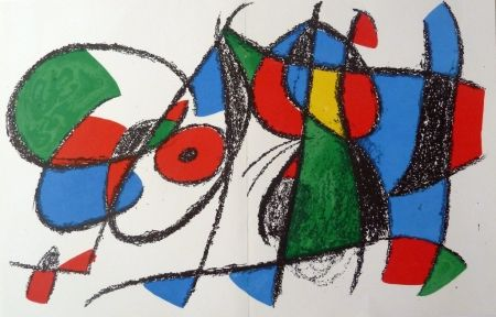 Lithographie Miró - Without title