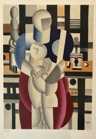 Lithographie Leger - Woman and Child (La femme et l'enfant)