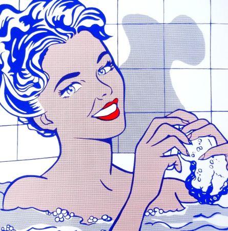 Sérigraphie Lichtenstein - Woman in bath
