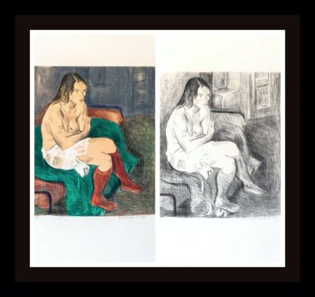Lithographie Soyer - Woman in Red Stockings Portfolio