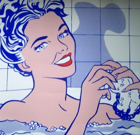 Sérigraphie Lichtenstein - Woman in the bath