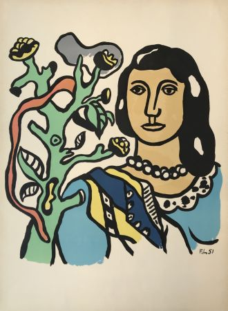 Lithographie Leger - Woman with Tree