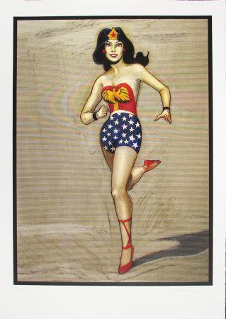 Gravure Sur Bois Ramos - Wonder Woman