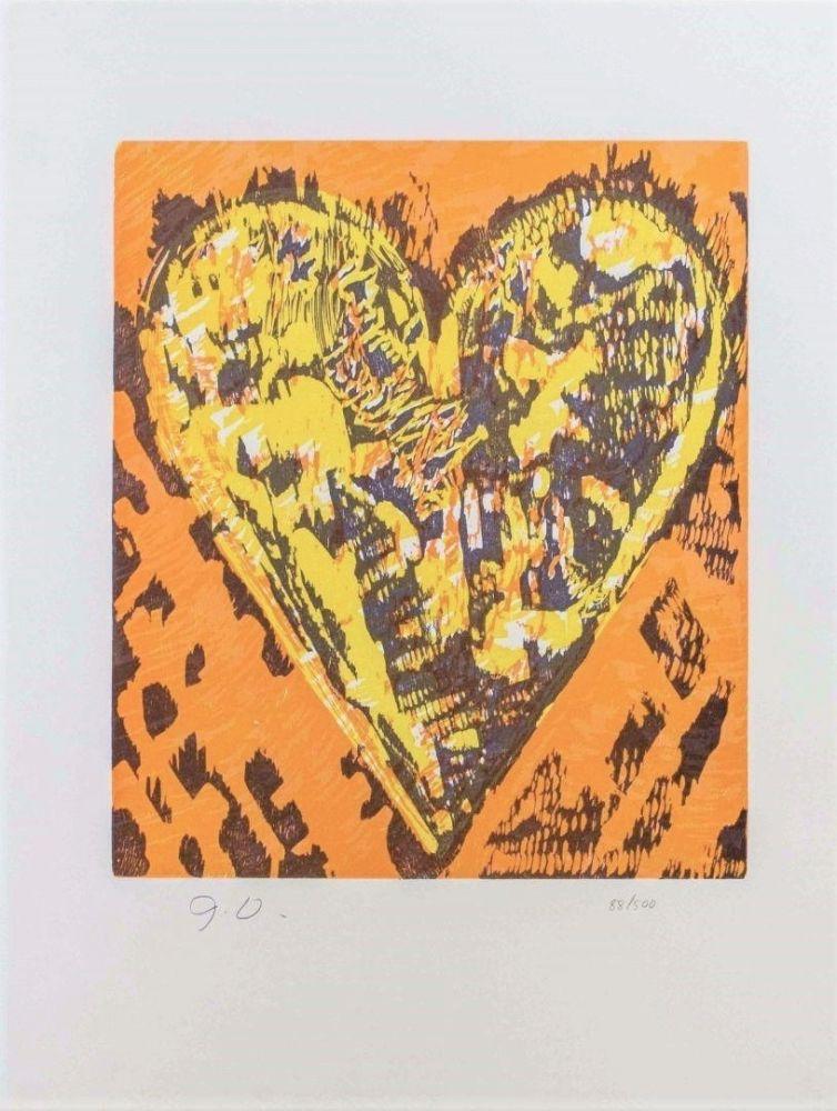 Gravure Sur Bois Dine - Woodcut Heart
