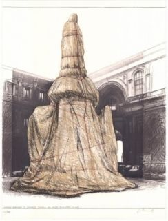 Lithographie Christo - Wrapped Monument to Leonardo