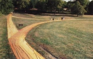 Multiple Christo - Wrapped Walk Ways, Loose Park, Kansas City, Missouri, 1977_78