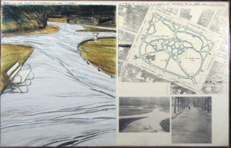 Lithographie Christo - WRAPPED WALKWAYS/PROJECT FOR ST. STEPHEN'S GREEN PARK IN DUBLIN