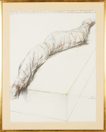 Sérigraphie Christo - Wrapped woman - Project for the Institute of Contemporary Art, Philadelphia