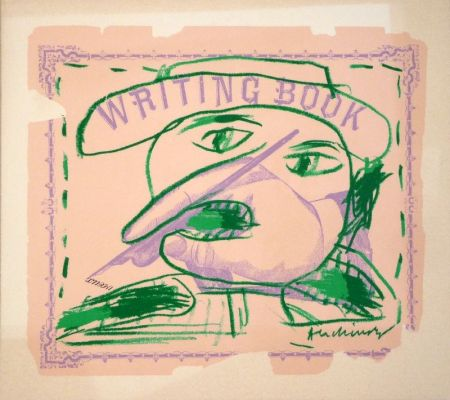 Lithographie Alechinsky - Writing Book