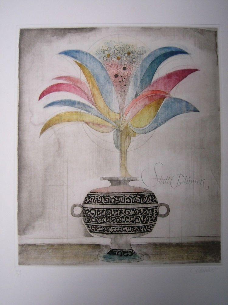 Eau-Forte Et Aquatinte Finsterer - Wunderblume