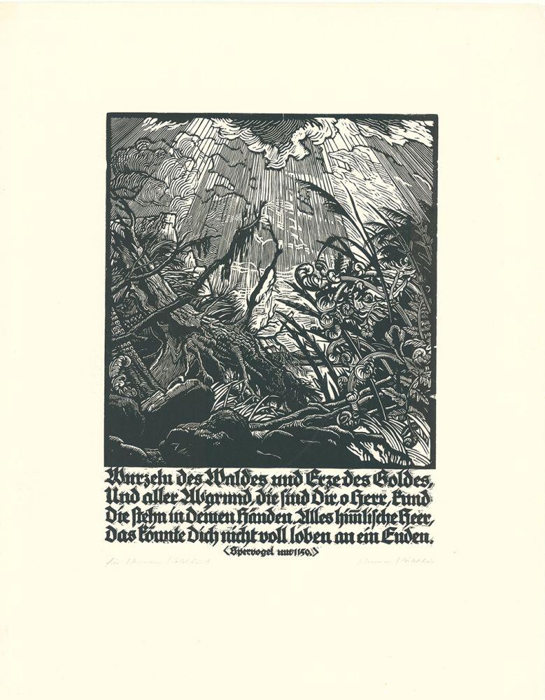 Gravure Sur Bois Kätelhön - Wurzeln des Waldes...