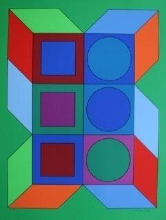 Sérigraphie Vasarely - XICO 2