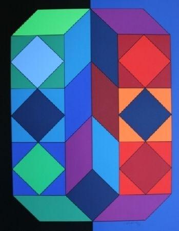 Sérigraphie Vasarely - XICO 4