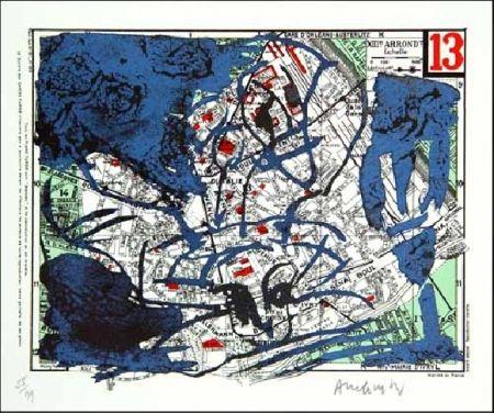 Lithographie Alechinsky - XIIIe Arrondissement