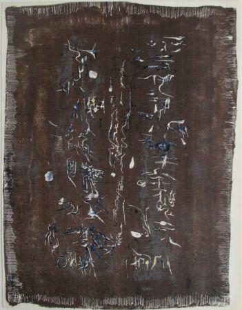 Lithographie Zao - Xx Siecle, L'ecriture Plastique