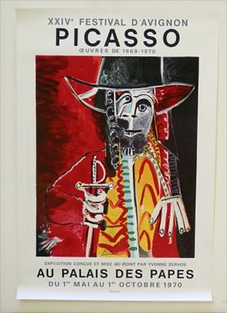 Lithographie Picasso - XXIV Festival D'Avignon