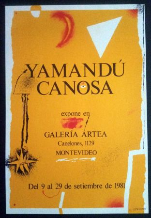 Affiche Canosa - Yamandú Canosa - Galeria Artea - Montevideo - 19