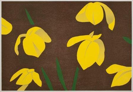 Gravure Sur Bois Katz - Yellow Flag