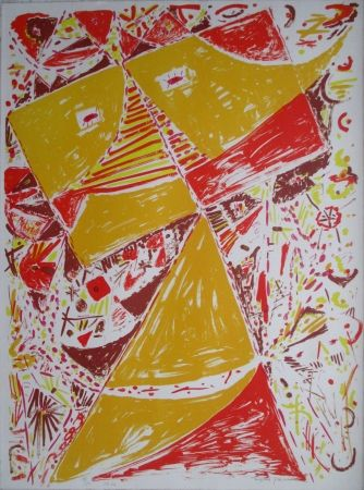 Lithographie Jacobsen - Yellow Mask