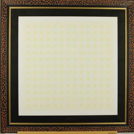 Sérigraphie Calderara - Yellow squares