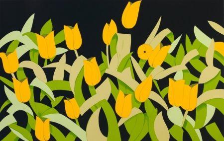 Sérigraphie Katz - Yellow Tulips