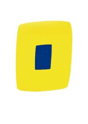 Lithographie Kelly - Yellow With Dark Blue, 1964-65