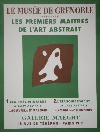 Lithographie Arp - Yeux et Nez