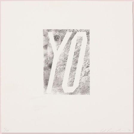 Lithographie Ruscha - Yo