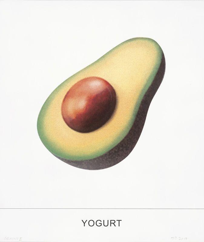 Sérigraphie Baldessari - Yogurt