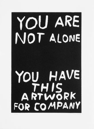 Linogravure Shrigley - You are not alone