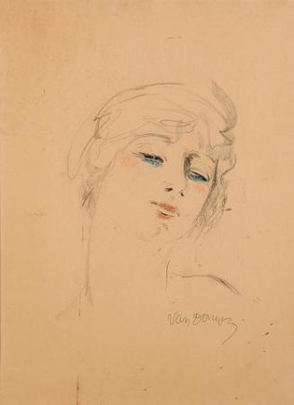 Lithographie Van Dongen - Young Girl Wih Blond Hair