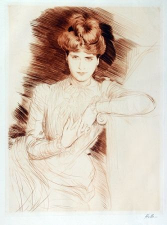 Pointe-Sèche Helleu - Young Woman Leaning - Madame Helleu