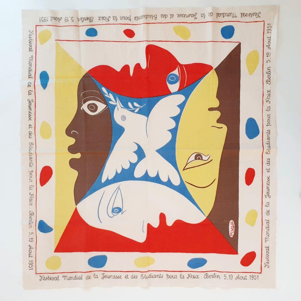 Sérigraphie Picasso - YOUTH FESTIVAL SCARF 1951
