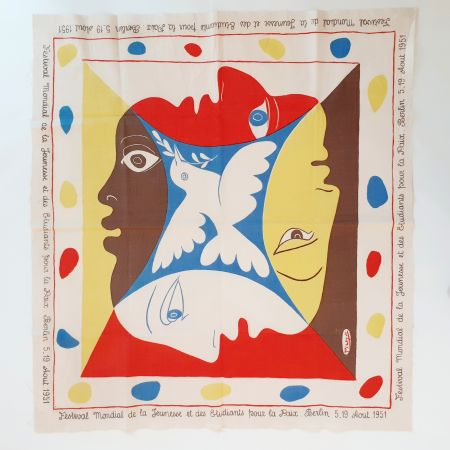 Sérigraphie Picasso - YOUTH FESTIVAL SCARF 1951