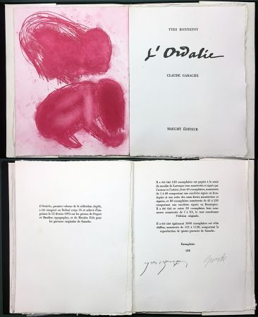 Livre Illustré Garache - Yves Bonnefoy. L'ORDALIE. Maeght 1975