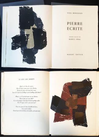 Livre Illustré Ubac - Yves BONNEFOY . PIERRE ÉCRITE. Ardoises taillées par Raoul Ubac