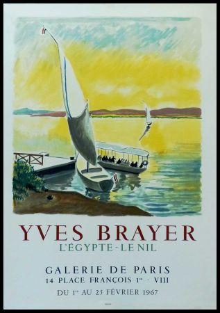 Affiche Brayer - YVES BRAYER - GALERIE DE PARIS, L'EGYPTE - LE NIL