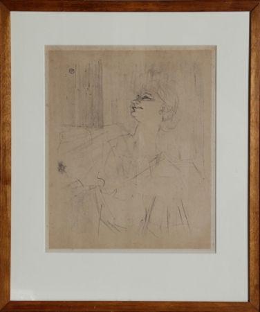 Lithographie Toulouse-Lautrec - Yvette Guilbert - Menilmontant