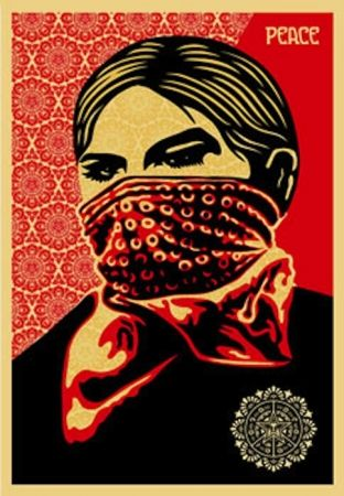 Sérigraphie Fairey - Zapatista Woman. Large Format