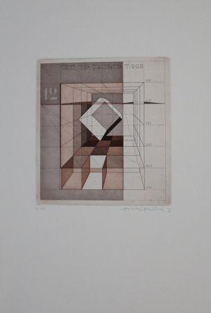 Eau-Forte Et Aquatinte Heintschel - Zeit der Quadrate