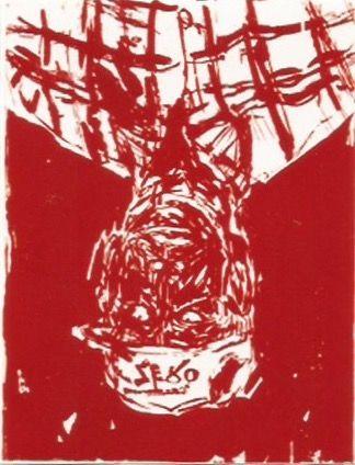 Gravure Sur Bois Baselitz - Zero for the painter