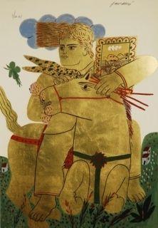 Sérigraphie Fassianos - Zeus