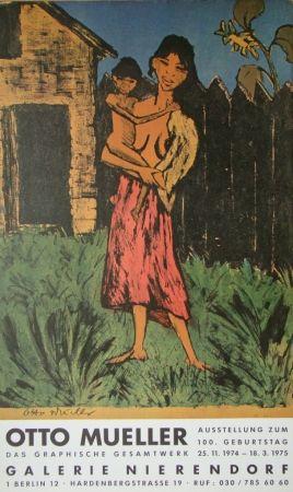 Affiche Mueller - Zigeunerin mit Kind