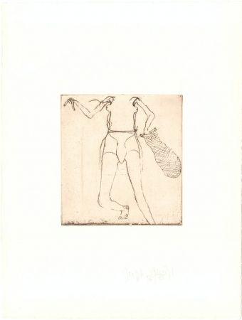 Gravure Beuys - Zirkulationszeit: Taucherin