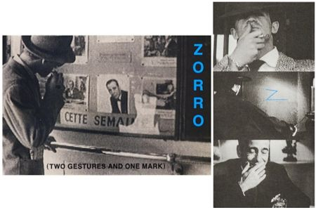 Lithographie Baldessari - Zorro (Two Gestures and One Mark)