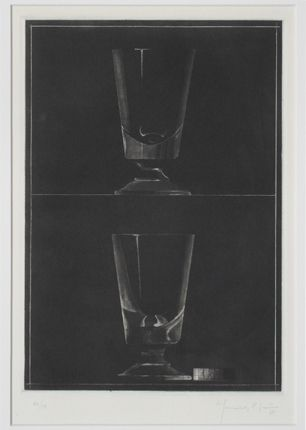 Aquatinte Hernandez Pijuan - Zwei Gläser