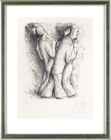 Lithographie Grass - Zwei tanzende Paare